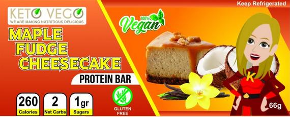 Maple Fudge Cheesecake label